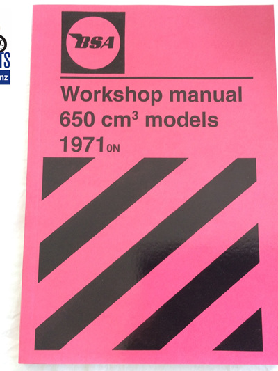 00-4189 Workshop Manual - BSA 650 1971on