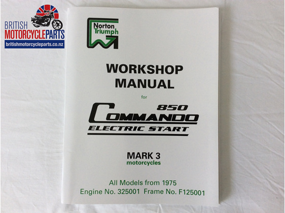 00-4224 Workshop Manual 850 MK3 1975 on - British Motorcycle Parts - Auckland NZ