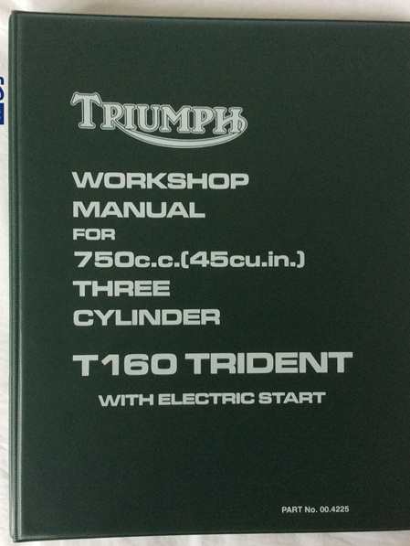 00-4225 Workshop Manual Triumph T160 Trident