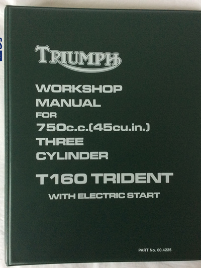 00-4225 Workshop Manual Triumph T160 Trident