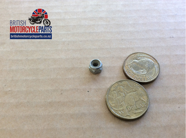 01-1846 Clutch Roller Screw Nut Nyloc 2BA - British Motorcycle Parts - Auckland