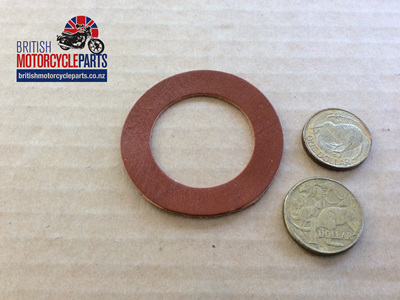 02-1785 FORK TUBE WASHER TOP - LEATHER- NORTON P11/P11A