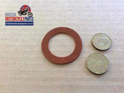 02-1786 FORK TUBE WASHER BOTTOM - LEATHER - NORTON P11/P11A