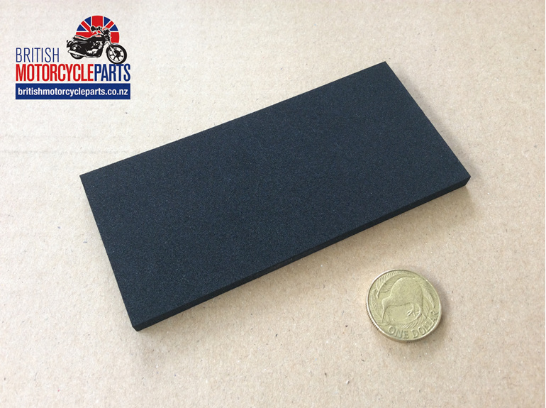 """02-6359 BATTERY/TANK RUBBER 1/4""""THK - 02.6559 - British Motorcycle Parts NZ"""