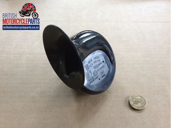 03-2010 HORN - 54068152 - 69219 - ALL BLACK - British Motorcycle Parts NZ