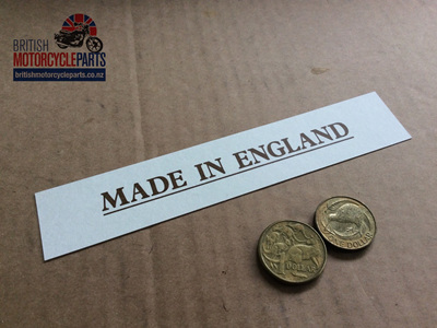 03-5073 Decal - MADE IN ENGLAND - 06-4062