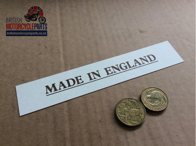 03-5073 Made in England Decal - Norton Commando - British Parts Auckland NZ
