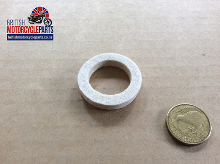 04-2055 FELT WASHER - FOOTREST TUBE/CHAINCASE