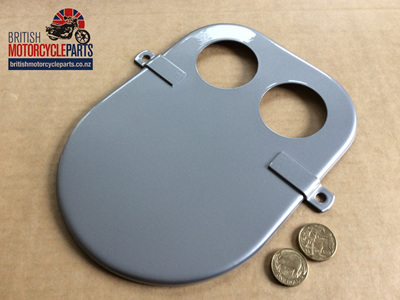 06-0902 AIR FILTER FRONT PLATE SILVER - 06-3813