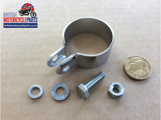 "06-1328 Muffler Clamp - 1 1/2"" - Commando - British Motorcycle Parts Auckland NZ"