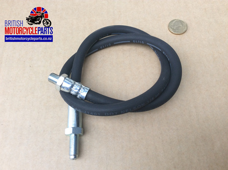 06-3507 Front Brake Hose - Top - Commando