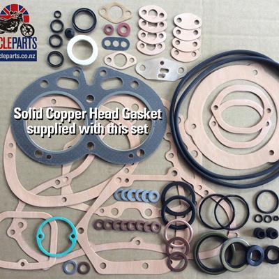 06-3608C Gasket & Seal Set 750 Commando - Copper