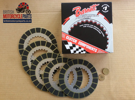 06-3741 Clutch Friction Plate Kit - Barnett - 850cc Commando