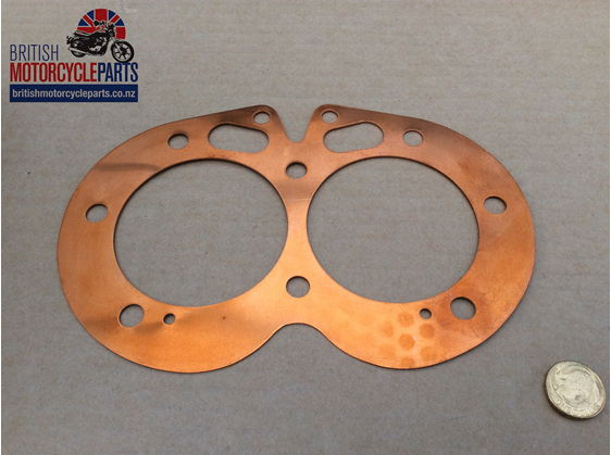 06-3811 Cylinder Head Gasket - Commando 850 - Copper British Motorcycle Parts NZ