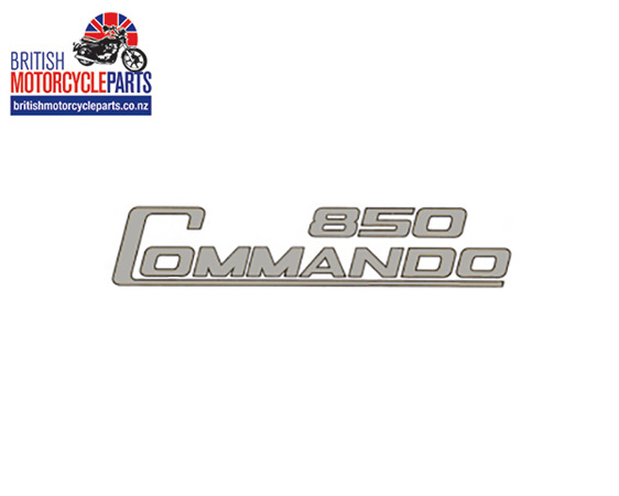 06-4013 850 Commando Side Cover Decal - Silver & Black Outline Dryfix NZ