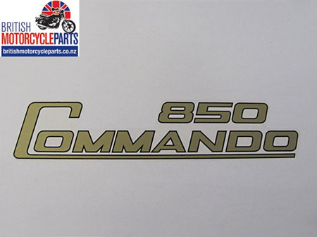 06-4014 Decal - 850 Commando - Gold & Black