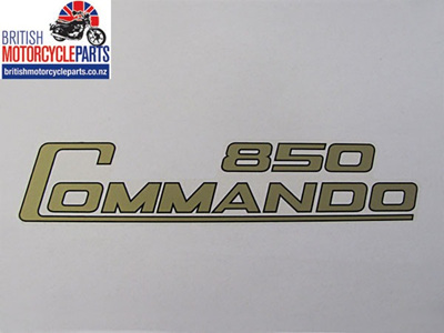 06-4014 Decal - 850 Commando - Gold & Black