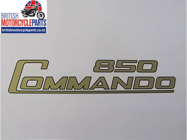 06-4014 Genuine Norton 850 Commando Side Panel Decal - Gold with Black Keyline