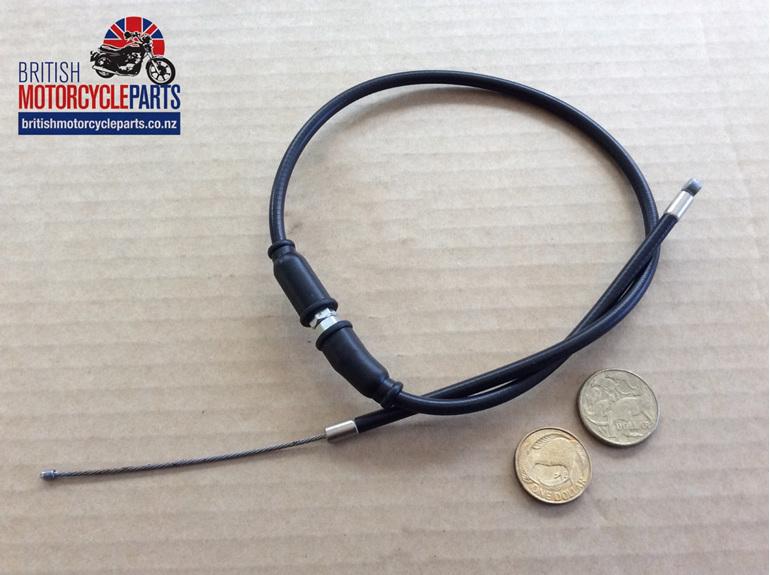 "06-4137 Norton Throttle Cable T/Grip to J/Box - 21 1/8"" - British MC Parts NZ"