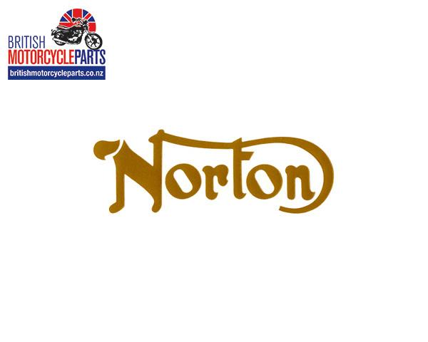 06-4880 Norton Petrol Tank Decal Gold - Norton 750 & 850 Commando 1968-75