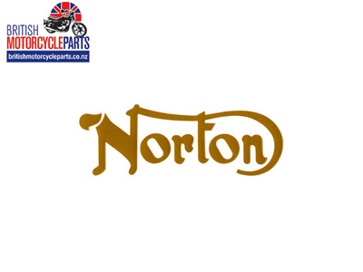 06-4880 Norton Petrol Tank Decal Gold