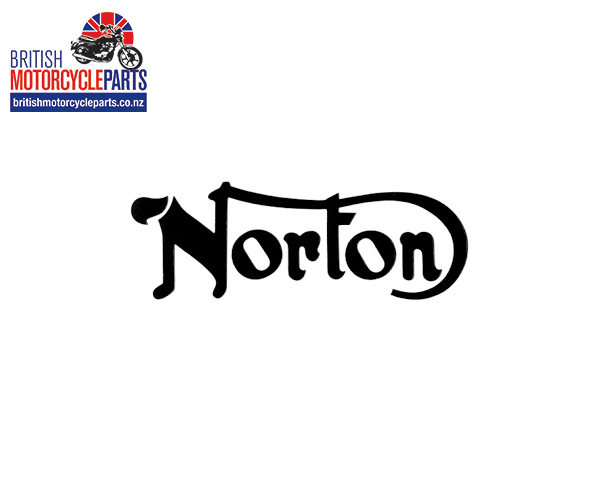 06-4881 norton petrol tank decal black norton 850 commando 1975 mk3 black