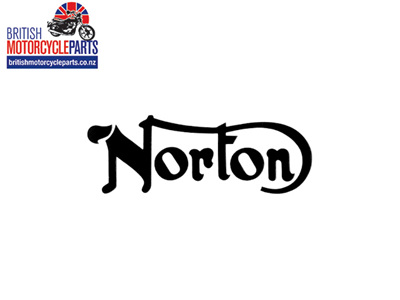06-4881 Norton Petrol Tank Decal Black