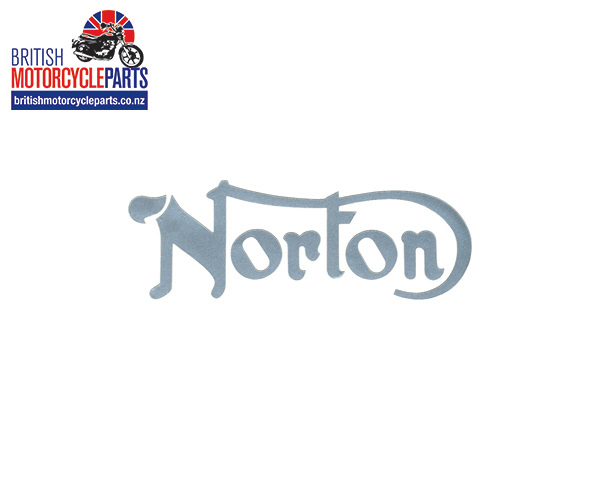 06-4882 Norton Petrol Tank Decal Silver - Norton 850 Commando 1974-75 MK2A & MK3