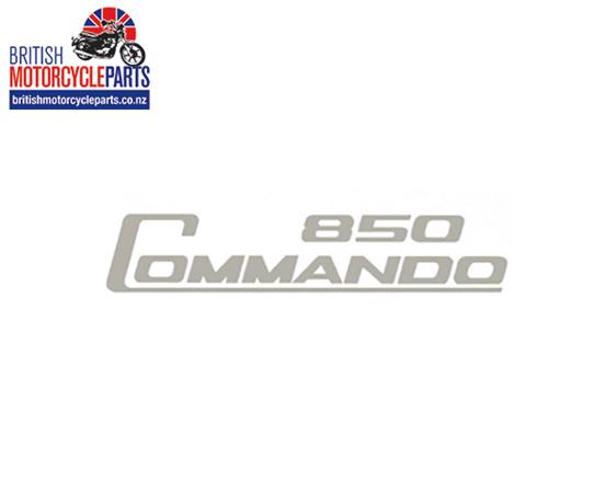 06-5095 Decal - 850 Commando - Silver - Vinyl - British Motorcycle Parts Ltd NZ