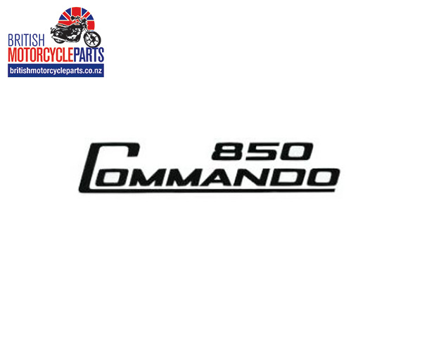 06-5096 Decal - 850 Commando - Black - Vinyl - British Motorcycle Parts Ltd - NZ