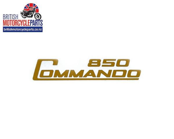06-5097 Decal - 850 Commando - Gold - Vinyl - British Motorcycle Parts Ltd - NZ
