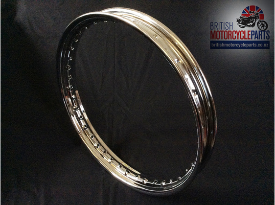 "06-6119 Chrome Rim - Norton Commando 19"" Rear Disc - British Parts Auckland NZ"