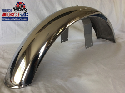 06-6204 Front Mudguard Assy - Stainless - Painted Bridge