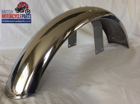 06-6204 Front Mudguard Assy MK3 - Stainless - Painted Bridge