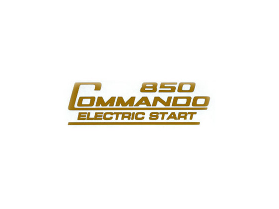 06-6388 850 Commando Electric Start Decal - Gold