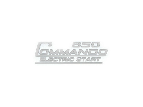 06-6389 850 Commando Electric Start Decal Silver - British Motorcycle Parts Ltd