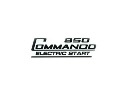 06-6390 850 Commando Electric Start Decal - Black