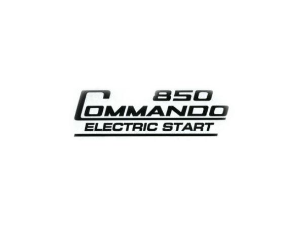 06-6390 850 Commando Electric Start Decal Sticker Black - British Bike Parts NZ