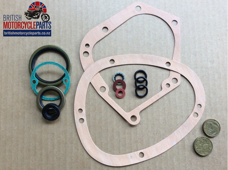 06-7244 GEARBOX GASKET & OIL SEAL SET - MK3- British Motorcycle Parts - Auckland