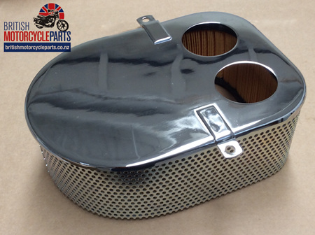 06-7355 Air Filter Assembly - Chrome Front Plate