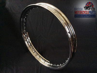 "06-7712 Chrome Rim - Norton Commando 19"" Front/Rear FW"