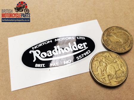 "06-7908 DECAL ""ROADHOLDER"" VINYL BLACK/SILVER - NM25117"
