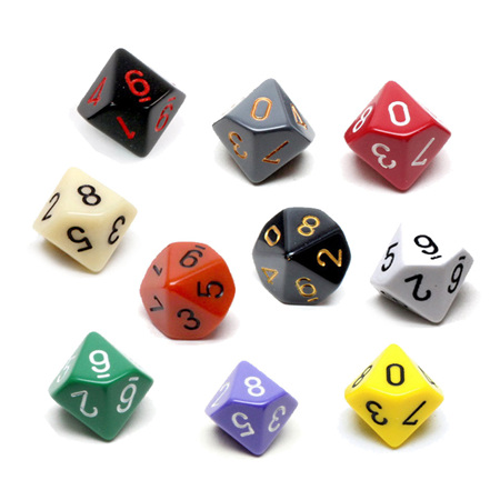 10 Chessex Ten Sided Dice