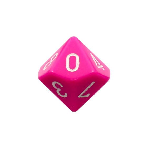 10 Pink and White Ten Sided Dice Games and Hobbies New Zealand NZ