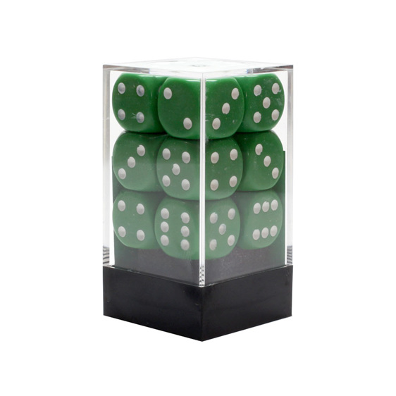 12 Green and Gold 16mm Six Sided Dice Games and Hobbies New Zealand NZ