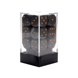 12 Grey and Copper 16mm Six Sided Dice Games and Hobbies New Zealand NZ
