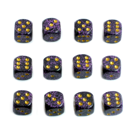 12 Hurricane 16mm Six Sided Dice Games and Hobbies New Zealand NZ