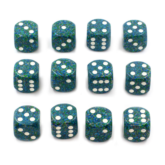 12 Sea 16mm Six Sided Dice Games and Hobbies New Zealand NZ