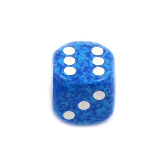 12 Water 16mm Six Sided Dice Games and Hobbies New Zealand NZ