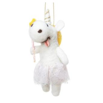 12cmh Xmas Wool Decoration-Unicorn Witch